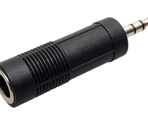 Adaptador 6.3mm Stereo Hembra A 3.5mm Stereo Macho