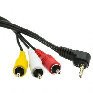 CABLE CON CONECTOR 3.5MM ESTEREO A 3 CONECTORES RCA MACHO 1.5M