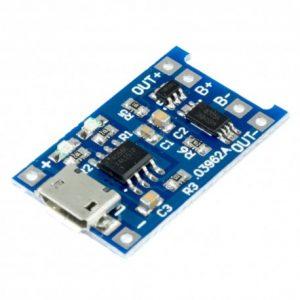 CARGADOR USB DE BATERIA LITIO 18650 1A CON PROTECCION