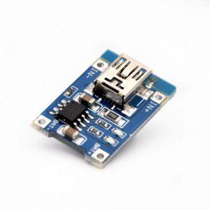 CARGADOR USB DE BATERIA LITIO 18650 1A TP4056