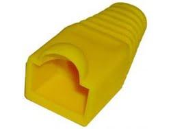 Capuchon Para Conector RJ45 PVC Color Amarillo