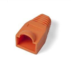 Capuchon Para Conector RJ45 PVC Color Naranja