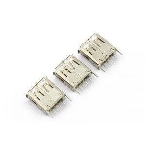 Conector USB Chasis Hembra Recto Tipo-A 4 Pines