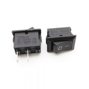 MINI SWITCH NEGRO 2P 3A 250V