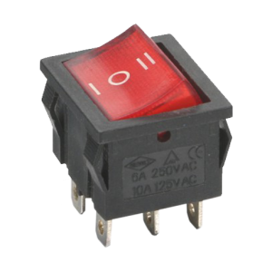 SWITCH ON-OFF-ON 6 PIN 6A 250V